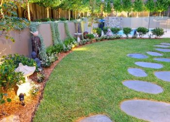 How to landscape yard cheaply